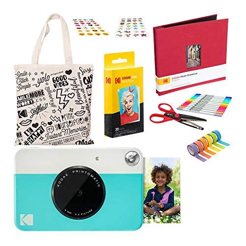 Kodak PRINTOMATIC Cámara de impresión instantánea (Azul) Paquete del Libro de Recuerdos