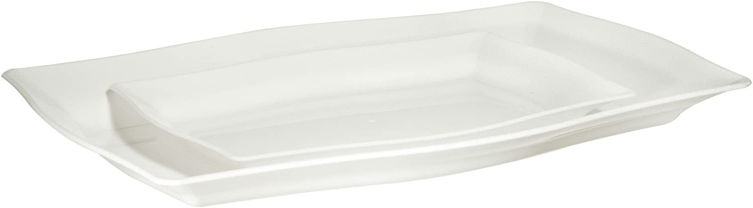 Lillian Tablesettings Safety and trust sale Plastic Combo Fluted Square Pack Pearl