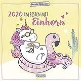 Einhorn 2020: Broschürenkalender mit Ferienterminen. Tierkalender vom wahren Einhorn. 30 x 30 cm