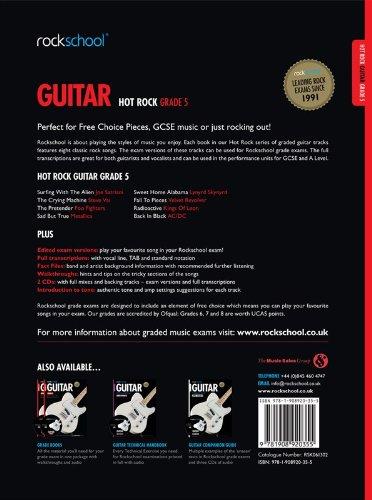 Rockschool: Hot Rock Guitar - Grade 5. Partituras, 2 x CD para ...