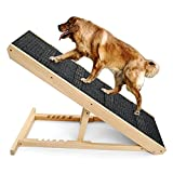 """Dog Ramp,Pet Ramp for Couch or Bed - for Large Small Dogs and Cats,6 Layer Adjustable Ramp Up to 200 Lbs,40 in Long Adjustable from 13"""" to 24"""" with Paw Traction Mat and 4 Self-Adhesive Anti-Skid Mats"""