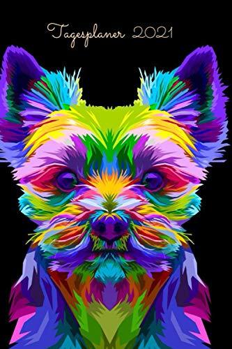 Tagesplaner 2021: Hund Tagesplaner & buchkalender 2021 a5 1 tag pro seite I Tageskalender 365 Tage ,12 monate von Januar bis Dezember 2021 und To Do Liste I kalender ,Tagebuch 2021 I400 seiten