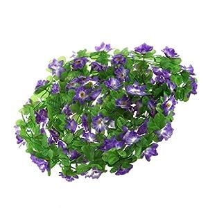 homozy 2pcs Artificial Silk Daffodil Flower Hanging Garland Ivy