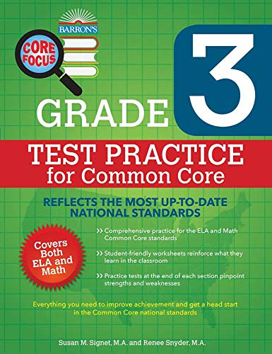 Core Focus Grade 3: Test Practice for Common Core (Barron's Core Focus)