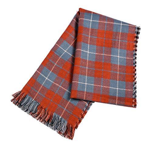 Memefood Bufanda larga de invierno gruesa cálida manta suave envuelve para damas, chal de gran tamaño a cuadros
