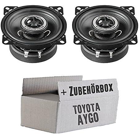 Lautsprecher Boxen Helix Match Ms4x 10cm Koaxsystem Auto Einbauzubehör Einbauset Für Toyota Aygo Just Sound Best Choice For Caraudio Navigation