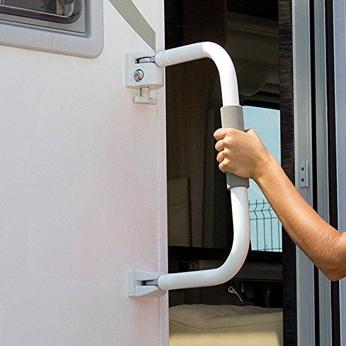 Fiamma Security 31 Einstiegshilfe Einstiegsbügel, Bügelhöhe 31 cm, Aluminium, Schloss
