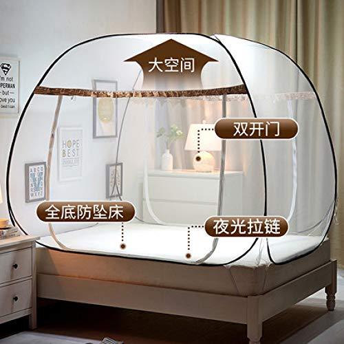 MLDSJQJ Sommer Bi Trennwand Moskitonetz für Doppelbett Einzeldach Netz 3 Größen Studenten im Freien Mesh für Bett | Moskitonetz
