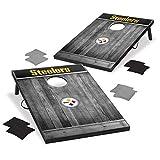 Wild Sports 2'x3' MDF Wood NFL Pittsburgh Steelers Cornhole Set - Grey Wood Design