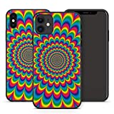 Handyhülle PSY für Apple iPhone Silikon MMM Berlin Hülle Goa Trance Psychedelic Techno LSD Om Bass, Kompatibel mit Handy:Apple iPhone 6 Plus / 6S Plus, Hüllendesign:Design 5 | Silikon Schwarz