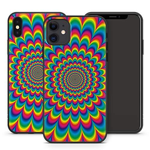Handyhülle PSY für Apple iPhone Silikon MMM Berlin Hülle Goa Trance Psychedelic Techno LSD Om Bass, Hüllendesign:Design 5   Silikon Schwarz, Kompatibel mit Handy:Apple iPhone 11 Pro Max