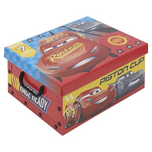 Disney Spielzeug-Aufbewahrungsbox für Kinder, Pappe, Cars 3, 1 Box