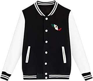 WFIRE Baseball Jacket Flag Map Mexico Custom Fleece Varsity Uniform Jackets Coats for Youth
