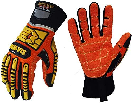 Seibertron High-Vis SDX2 Resistant Reducing Anti-Impact Mechanics Heavy Duty Safety Rescue Gloves CE EN388 4232 XS