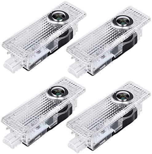 Car Door LED Lights Compatible 3/5/6/7/Z/GT/X1/X3/X4/X5/X6 Series, Car Door Light Ghost Shadow Light Logo Lighting Projector Welcome Lamp Accessories 4 Pack