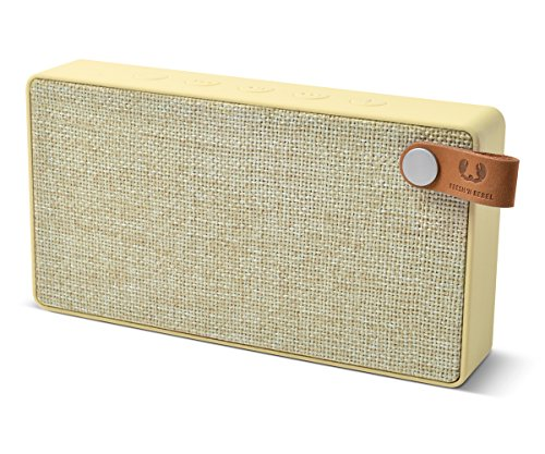 Fresh 'N Rebel Speaker Rockbox Slice Fabriq Edition, Altoparlante Bluetooth Tascabile 6W, Extra Bass, Vivavoce, Giallo