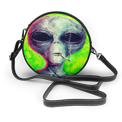 Alien Smoking Ideas - Bolso bandolera para mujer, diseño redondo
