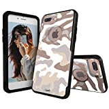 Unnito iPhone 7 Plus Case – Hybrid Symmetry Case | Slim Cover with Hard Shell Design and Soft Inner Layer Compatible with iPhone 8 Plus Black Case - All Nude Camo