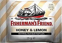 Fishermans Friend 25 g Sugar Free Honey and Lemon Lozenges - Pack of 8 by Fishermans Friend
