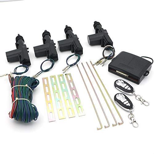 ARLT 12V Universal 4 Puertas Coche Cerradura Central Cerradura Remote 2 Kit DE Clave ACTUADOR DESBROBLE DESBLOQUE DE Interiores DE Interiores DE LOS EHICULOS AUTÁNTICOS AUTOMÁTICOS Auto
