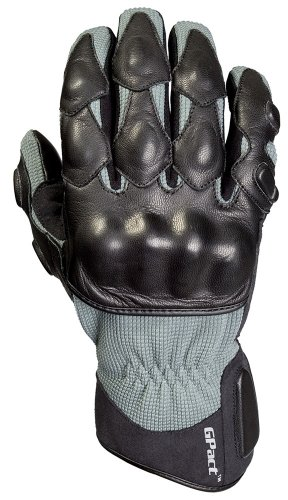 Decade Motorsport Street Gloves (Black and Gray, Large/X-Large)