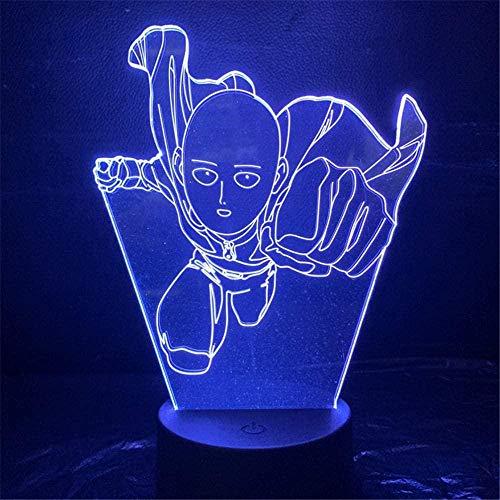 FYLART 3D-Lichter One Punch Cartoon Character Lampe 3D-Beleuchtung Tischlampe Familie Schlafzimmer Dekoration Kinder Geschenk Farbe Ändern Glowing Toy Holiday Gift