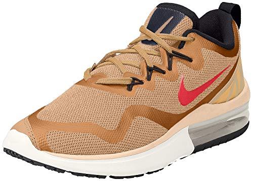 Nike Men's Air Max Fury Running Shoe Metallic Gold/Siren Red Dessert Black (12, Metallic Gold/Siren RED-Desert-Black)