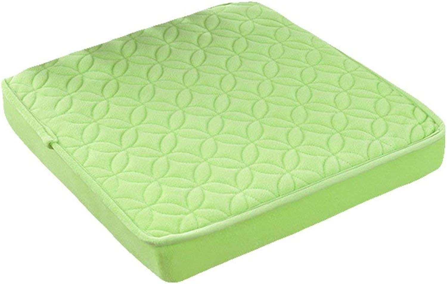 Seat Cushion Light Green Cushion Office Computer Chair Thicken Sponge Student Chair Cushion Soft and Comfortable Four Seasons Available y Non Slip Dinging Chair Pad (Size   50  50  8cm)