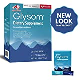 Glysom- Sleep Supplement, Supports Deeper Restful Sleep   Amino Acid Glycine   Natural Lemon Flavor, 30 x3.2g Sticks, 3.3oz Box