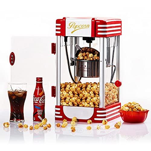 YASAHNG Macchina Elettrica per Popcorn, Grande capacità, con Timer E Pentola Estraibile, Facile da Usare, Sia per Uso Domestico Che Commerciale