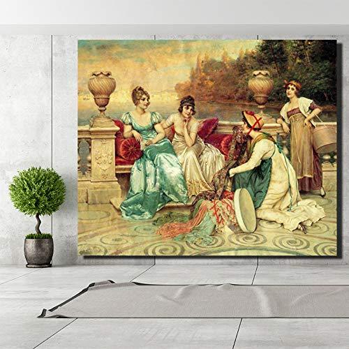 SADHAF Abstract Canvas Olie Schilderen Beroemde Schilderij Woonkamer Mural Replica Huis Woonkamer Art Decoratie 50x70cm (no frame) A3