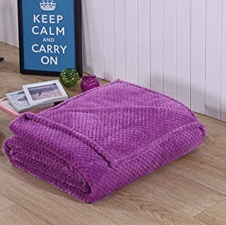 BEESCLOVER 5 Sizes 100% Soft Premium Bedding Blanket Cozy Blankets Bed Warm Couch Throw Comfortable Beds Violet 140 100cm