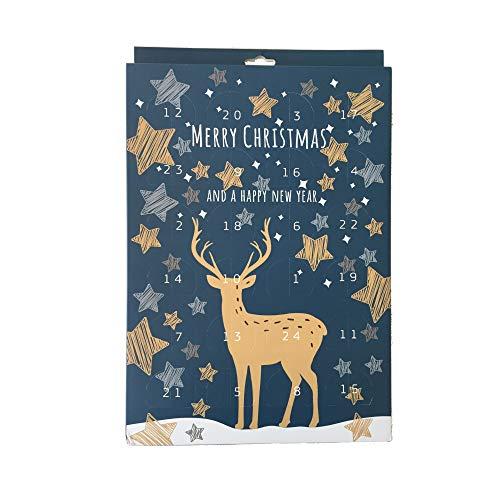 Kaiser Inspiration Adventskalender zum selber füllen, Do-it-yourself Kalender, Geschenkidee für Backliebhaber, Muffinform klein mit 24 Ausstecher