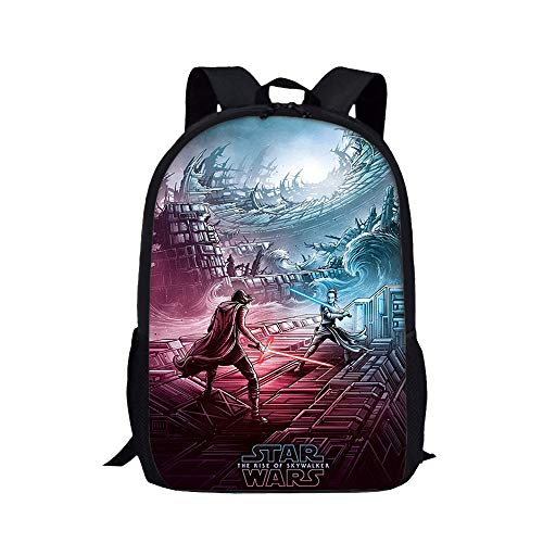 Star Wars Casual Backpack Waterproof Daypack Western Style Schoolbag Lightening Backpack for Boys and Girls for Boy and Girl (Color : A03, Size : 29 X 16 X 42cm)
