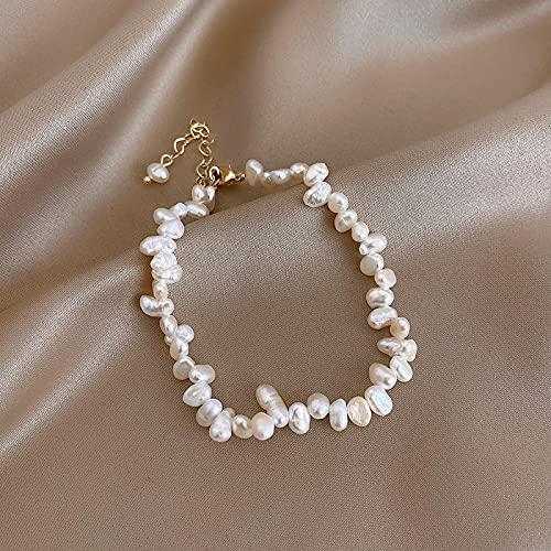 Pulsera Joyas Pulseras De Perlas Naturales Barrocas para Mujer, Una Nueva Joyería De Moda Coreana, Pulsera Clásica Gótica, Accesorios Sexis para Chica