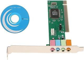 gazechimp Placa Principal PCI 8738 Placa de Som Integrada Placa de Som Surround PCI de 5.1 Canais