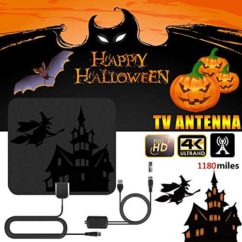 Indoor 4K Digital HDTV Aerial Amplified Radius Antenna with DVB-T2 Freeview TV...