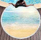 Jgzatoa Clear Ocean Toalla de playa grande, ideal para viajes de natación, yoga, deporte, camping, tumbona, sofá, manta
