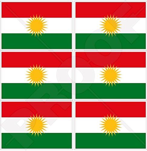 KURDISTAN vlag, Kurd Alaya Rengîn Koerdische 40mm (1,6