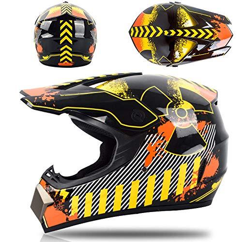 Motor off-road helm kinderen en adolescenten elektrische helm skelter volledige helm-vernietiging Lichte, comfortabele en veilige helm_M