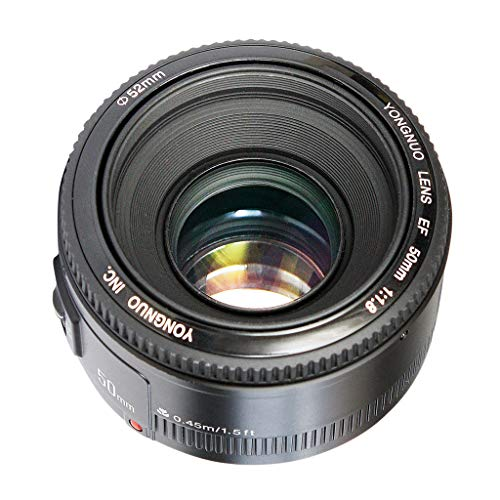 Almencla Lente de Apertura de Enfoque F1.8 AF de 50 mm, Objetivo para Canon EOS, Diagonal: 46 ° Vertical: 27 °