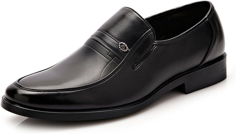 JIALUN-Schuhe Geschäfts-Oxfords PU-Leder-Block-Ferse-weiche alleinige Ebenen der einfachen formalen Männer (Farbe   Schwarz, Größe   7 UK)  | Authentische Garantie