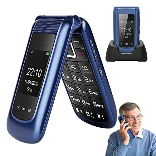 Uleway 3G Big Button Mobile Phone for Elderly Flip Phones Sim Free Unlocked...