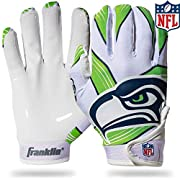 OFFICIAL NFL GLOVES: These gloves are officially licensed by the NFL with authentic team logos and colors so you can support your favorite team with authority CATCH EVERY FOOTBALL: The one-piece tacky silicone palm with extended thumb and forefinger ...