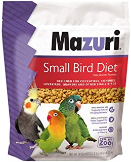 Mazuri | Nutritionally Complete for Small Birds | 2.5 Pound (2.5 lb) Bag