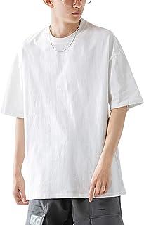 INKARO ビッグTシャツ メンズ 無地 5分袖 半袖 6.3オンス 綿100% 軽い おしゃれ ロンT ビックT 丸首 柔らかい ゆったり シルエット 快適