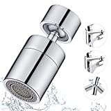 Universal Splash Filter Faucet, 360° Dual Function Rotate Kitchen Sink Aerator Faucet Sprayer Attachment Big Angle Large Flow Faucet Aerator for Bathroom Kitchen Laundry Sink