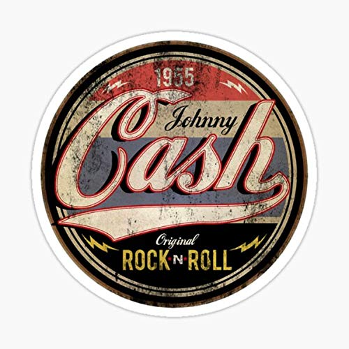 Johnny Cash 1955 Rock and Roll Rockabilly Sticker - Sticker Graphic - Auto, Wall, Laptop, Cell, Truck Sticker for Windows, Cars, Trucks