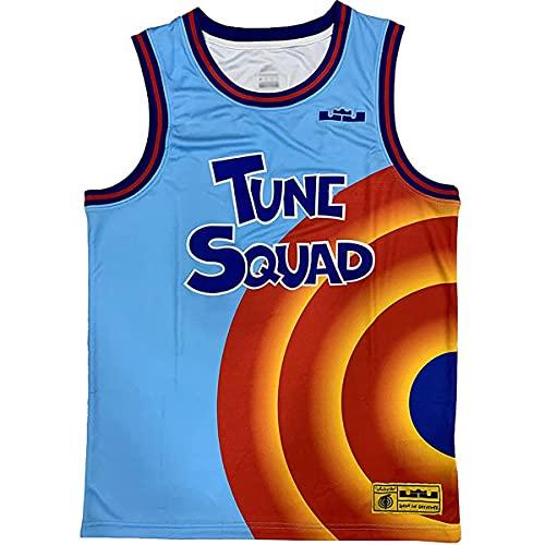 Yesgirl Activewear Tops für Herren Basketball Trikots Top Ärmelloses Atmungsaktives T-Shirt Retro Atmungsaktive Weste Tanktop Blau XXL