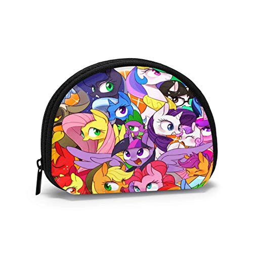 Cute Small Cash Coin Purse, Clutch Bag Zipper Change Purses, Shell-Shaped Wallet Cash Pouch Storage Bags, My Little Pony Friendship is Magic